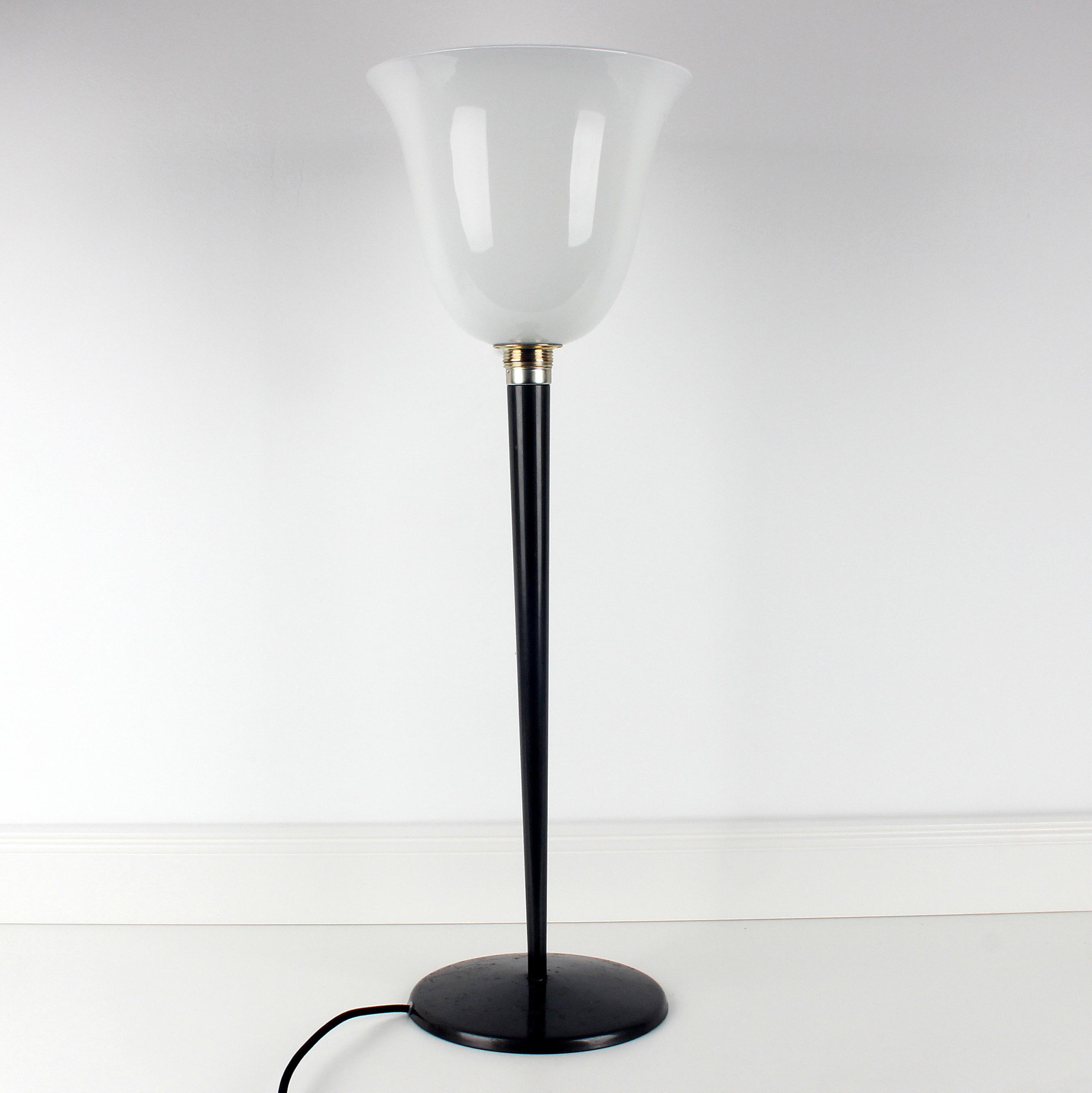 Stehlampe Mit Glas Lampenschirm Textilkabel Schwarz Mit Fussschalter Und Stecker 2 Radio Kolsch Hamburg