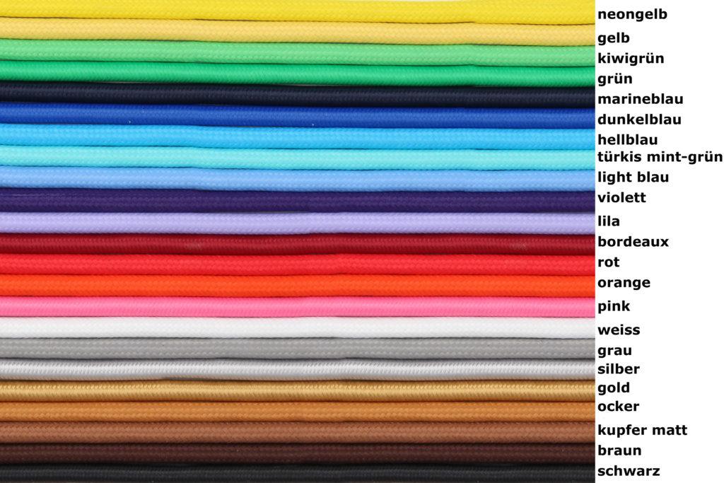 Textilkabel für Lampen - Radio Kölsch Hamburg